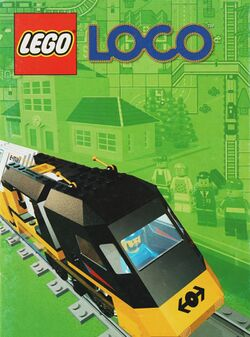 Box artwork for Lego Loco.