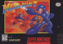 Box artwork for Mega Man 7.