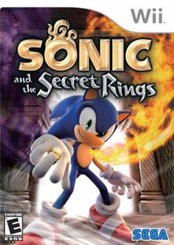Box artwork for Sonic and the Secret Rings.