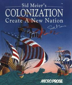 Box artwork for Sid Meier's Colonization.