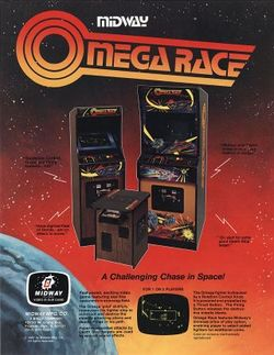 Box artwork for Omega Race.