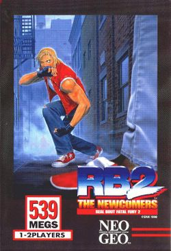 Box artwork for Real Bout Fatal Fury 2: The Newcomers.