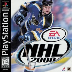 Box artwork for NHL 2000.