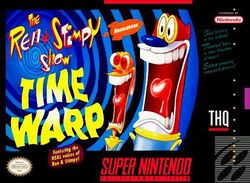 Box artwork for The Ren & Stimpy Show: Time Warp.
