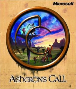 Box artwork for Asheron's Call.