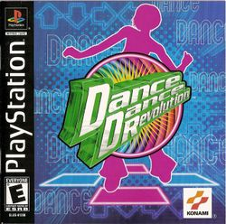 Box artwork for Dance Dance Revolution.