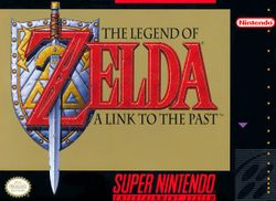 Box artwork for The Legend of Zelda: A Link to the Past.