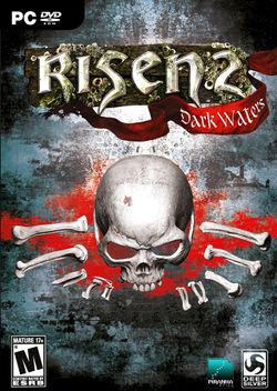 Box artwork for Risen 2: Dark Waters.