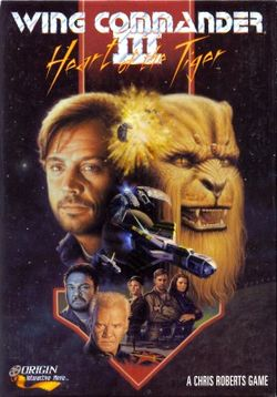 Box artwork for Wing Commander III: Heart of the Tiger.
