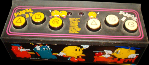 Professor pac man control panel png