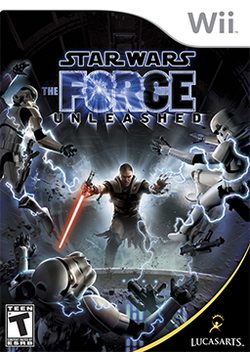 Box artwork for Star Wars: The Force Unleashed.