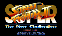 Box artwork for Super Street Fighter II.