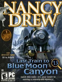 Box artwork for Last Train to Blue Moon Canyon.