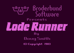 The logo for Lode Runner.