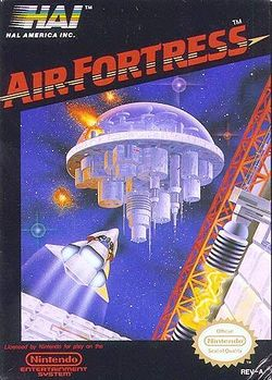 Box artwork for Air Fortress.