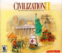 Box artwork for Civilization II.
