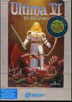 Box artwork for Ultima VI: The False Prophet.