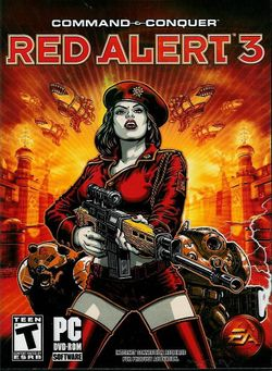 Box artwork for Command &amp; Conquer: Red Alert 3.