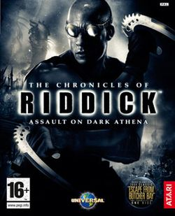 Box artwork for The Chronicles of Riddick: Assault on Dark Athena.