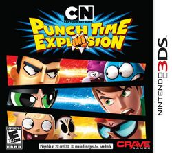 Box artwork for Cartoon Network: Punch Time Explosion.