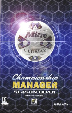 Box artwork for Championship Manager: Season 00/01.