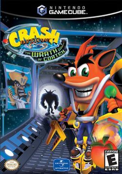 Box artwork for Crash Bandicoot: The Wrath of Cortex.