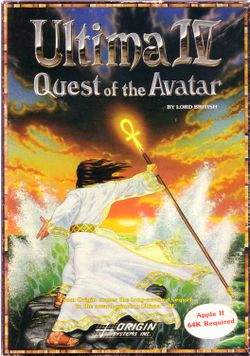 Box artwork for Ultima IV: Quest of the Avatar.