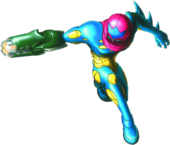 Samus's Fusion Suit, infused with Metroid DNA