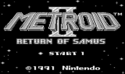 Metroid II: Return of Samus Title Screen