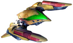 The gunship in Metroid Prime 3: Corruption