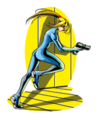 Brawl Sticker Running Zero Suit Samus (Metroid ZM).png