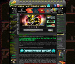Metroid Database's current layout
