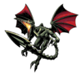 Brawl Sticker Ridley (Metroid Zero Mission).png