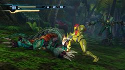 Samus  using lethal strike in Metroid: Other M