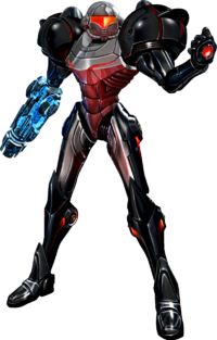 Samus obtains the Phazon Suit