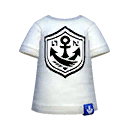 White Anchor Tee