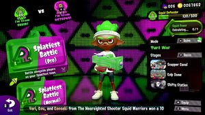 Splatoon 2 version 4 splatfest lobby main screen.jpg