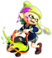 S2 yellow-green Inkling girl smiling while swinging Slosher.png