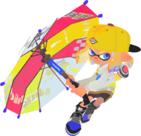 Splatoon 2 - Inkling with a Splat Brella 2D.png