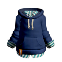 Shirt with Blue Hoodie
