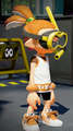 Snorkel mask + squid girl tunic + white seahorses.png