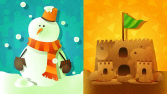 North American Splatfest Snowman vs. Sandcastle.jpg