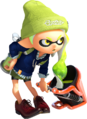 S2 green Inkling girl leaning forward and holding Slosher.png