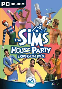 Box artwork for The Sims: House Party.