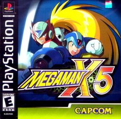 Box artwork for Mega Man X5.