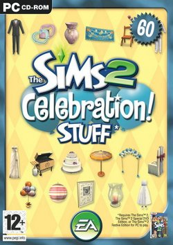 Box artwork for The Sims 2: Celebration! Stuff.