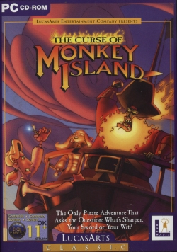 Box artwork for The Curse of Monkey Island.