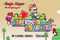 Super Mario Advance title screen extra.png