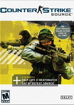 Box artwork for Counter-Strike: Source.