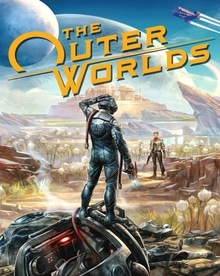 Box artwork for The Outer Worlds.